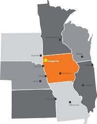 Upper Midwest Map Business U2013 Orange City