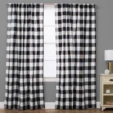 Blue Buffalo Check Curtains Crafty Design Buffalo Plaid Curtains Check Drapes You Ll