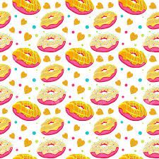 donut wrapping paper beautiful seamless pattern with bright surrealistic donuts seamless