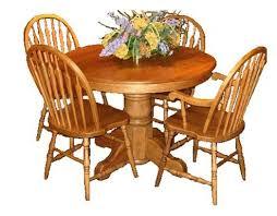 42 inch round pedestal table l j gascho furniture oak ridge 6642 42 inch round solid oak