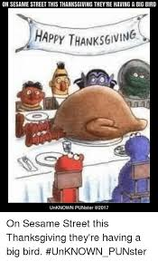 on sesame this thanksgiving they re a big bird hap