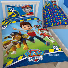 paw patrol single duvet cover bed set new gift ryder chase rocky
