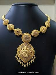 gold necklace designs simple images 22k gold simple necklace design south india jewels jpg