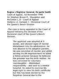 Queen S Bench Division Regina V Registrar General Ex Parte Smith Case Note