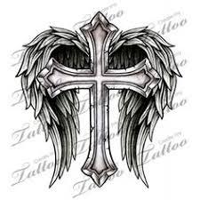 marketplace cross with wings 14700 createmytattoo com