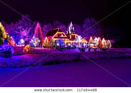 christmas fantasy park forest pine tree stock photo 117484498
