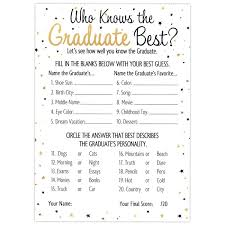 who knows the best who knows the graduate best graduation party cards 25 count