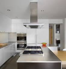 Aluminum Backsplash Kitchen Decorations Striking Modern White Kitchen With Large Island And