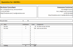 Microsoft Excel Quote Template 7 Quotation Templates Excel Pdf Formats