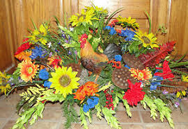 memorial flowers rooster chicken hen cemetery grave tombstone saddle headstone