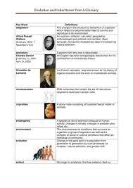 evolution and inheritance year 6 glossary by ksb teaching