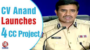 Manmohan Singh Cv Cyberabad Commissioner Cv Anand Launched 4 Cc Camera Projects In