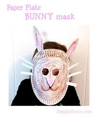 bunny mask make a paper plate bunny mask ziggity zoom