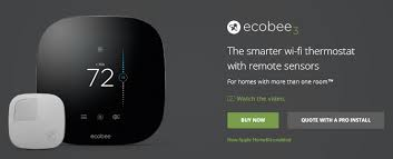 ecobee3 black friday my ecobee3 homekit wifi thermostat with remote motion temperature