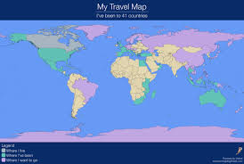 My Travel Map About Us Retired And Travelling