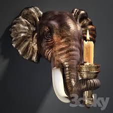 Elephant Wall Sconce 3d Models Other Decorative Objects Design Toscano Elephant