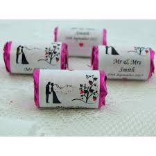 wedding favours 48 personalised heart rolls from only 21p a roll wedding