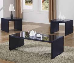 modern glass black coffee table sets eva furniture