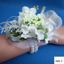Cheap Corsages For Prom Aliexpress Com Buy 4pcs Silk Wrist Flower Corsage For Wedding