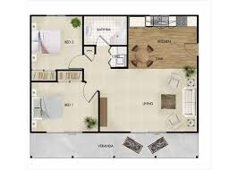 large 70sqm two bedroom granny flat designs for qld by nova design