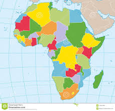 Africa Map Political by Africa Political Map Stock Photo Image 14504180