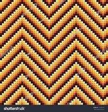 60 S Design Seamless 60s Retro Zigzag Pattern Warm Stock Vector 112049153