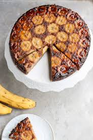 paleo banana upside down cake bakerita