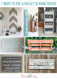 7 ways to use a pallet in home decor u003e u003e u003e hazel u0026 ruby style