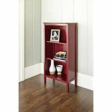 Stylish Bookshelf Amazon Com Bookcase With 3 Shelves And A Curved Deep Walnut