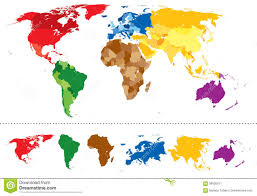 World Map Caribbean by Color Caribbean Islands Map Stock Images Image 22755814