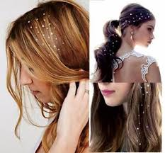 hair jewellery temporary tattoos jewels gold silver charm gem