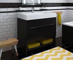 Free Standing Vanity Nash Black 750 Freestanding Vanity Unit With Sink Bathrooms Com