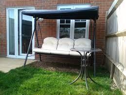 3 Seater Garden Swing Chair 3 Seat Lucca Garden Swing Hammock Plus Table Homebase In Alton