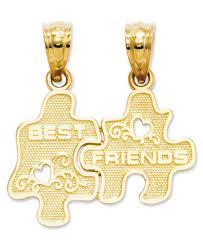 gold best friends necklace images 14k gold charm best friends puzzle break apart charm jewelry tif