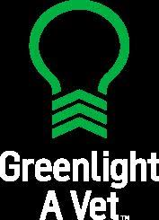 green front porch light greenlight a vet supporting america s veterans put a green light