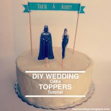 cool cake toppers heartcore d i y wedding cake toppers