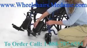 Transport Walker Chair Blue 4 Wheel Folding Rollator Walker Transport Chair Combo