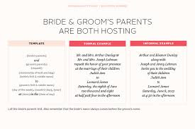 Wedding Invitation Wording From Bride And Groom Wedding Invitation Wording Parents Hosting Yaseen For