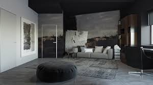 Grey Floor Living Room 3 Living Spaces With Dark And Decadent Black Interiors
