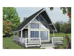 eplans cottage house plan expansive window wall 582 square