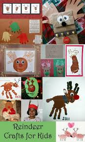 Kids Reindeer Crafts - handprint u0026 footprint reindeer crafts for kids footprints