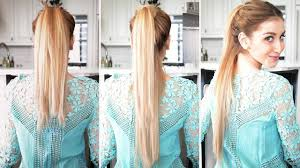 how to fake a longer ponytail fancy hair tutorial youtube