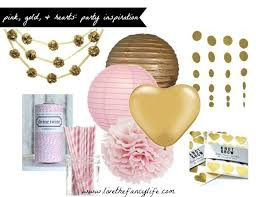 pink and gold party supplies inspiration to reality pink gold and hearts party