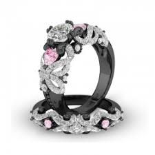 black wedding sets bridal sets bridal ring sets wedding ring sets womens wedding rings