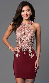 fitted dresses lace embellished homecoming party dress