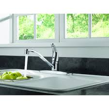 Chrome Kitchen Faucets Peerless Single Handle Kitchen Faucet With Single Lever Control