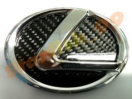 lexus is300 steering wheel emblem 3d gloss real carbon fiber backing chromed abs lexus em