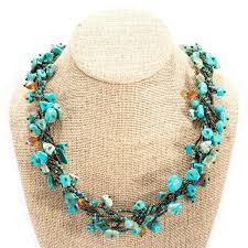 turquoise stone necklace chunky stone necklace eclectique enterprises