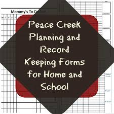 planning and record keeping forms for home and