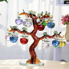 Apple Home Decor Aliexpress Com Buy Crystal Glass Apple Tree Ornaments 18pcs
